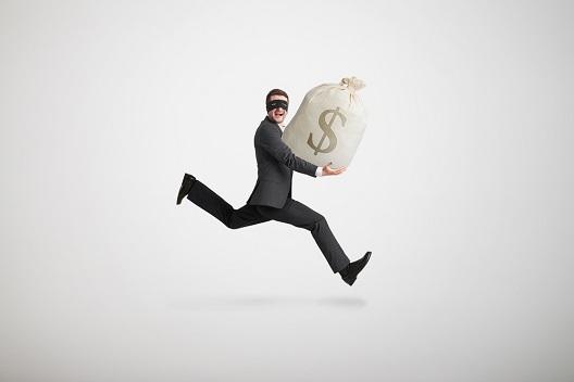 El ladrón se largó con el dinero